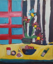 Fauvist oil painting still life signed