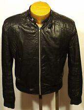 vintage men's SEARS cafe racer leather jacket size MEDIUM