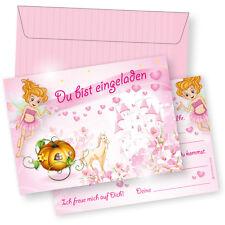 NEU Einladungskarten Kindergeburtstag Mädchen Einladung Geburtstag Prinzessin