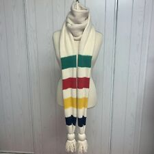 ICONIC HUDSONS BAY WOOL SCARF STRIPED HBC SIGNATURE 10 ft. Long!