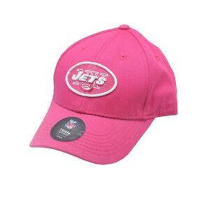 New York Jets NFL Toddler & Kids Girls Size OSFM Adjustable Pink Hat Cap New