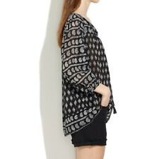 Madewell Moroccan mix tunic black M