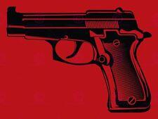 Pistola Pistola Arma Rojo Negro 12 X 16 in (approx. 40.64 cm) VE089A impresión arte cartel