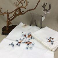 Madeira Embroidered Table Cloth & 8 Napkins Vintage Benj M Jabara & Sons 66x86