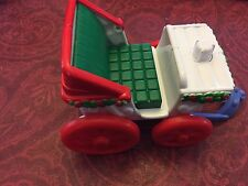 Fisher Price Little People Christmas Tree Lighting Carriage Wagon Sleigh Cart