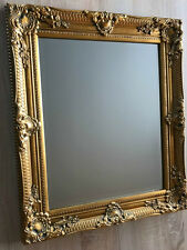 Nostalgie antique style de mur miroir dans le cadre peinture vintage 54 x 44 CM vintage