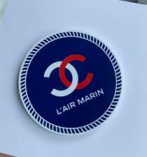 blue l'air Marin round very rare Chanel Vip Gift magnet brooch badge logo