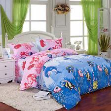 Soft Double Size Duvet Cover Pillow Case Quilt Cover Bedding Set High Quality
