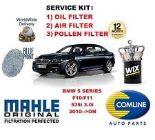 POUR BMW SÉRIE 5 F10 F11 535 3.0 2010 > FILTRE POLLEN AIR HUILE KIT ENTRETIEN