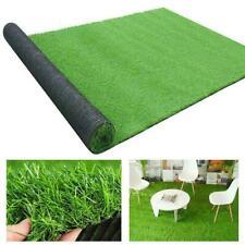 Artificial Grass Carpet Green Fake Synthetic Garden Turf Mat Landscape Lawn M3Y0
