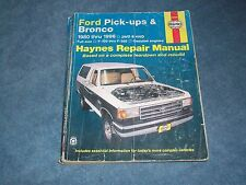 1980-1996 Ford Pick-Up & Bronco Haynes Repair Manual Full-Size F-100 F-250 F-350