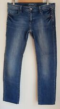 Ladies size 14 Blue SUPER SKINNY Jeans Shortened - Jeanswest