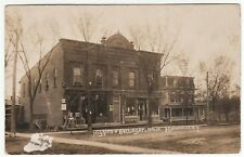 RARE Real Photo Hardware Store Barber Pole Advertising 1907 Mannsville NY RPPC