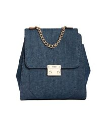 ★ GUESS* Dazzling Chain Denim Ladies Backpack ★