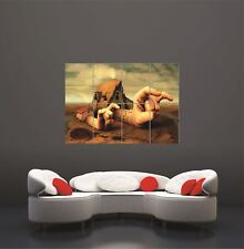Surreal House Devil Horns Rock Painting New Giant Wall Art Print Poster