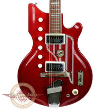 VINTAGE 1962 NATIONAL VAL PRO WESTOOD 77 MAP ELECTRIC GUITAR CHERRY FINISH