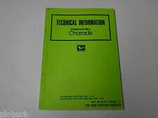 Workshop Manual/Workshop Manual Technical Information Daihatsu Charade, 1978
