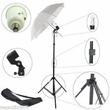 Kit Illuminatore Flash Completo Cavalletto Stativo Portalampada Lampada Ombrello