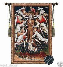 "Mary Magdalene Angels Fine Medieval Tapestry Jacquard Wall Hanging 47""x 31"""