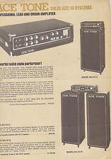 #MISC-0462 - 1970s ACE TONE ORGAN AMPLIFIER music instrument catalog