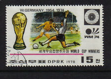 FOOTBALL WORLD CUP WINNERS WEST GERMANY 1954 1974 CTO FULL GUM KOREA 1978