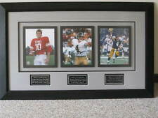 25x40 TRIPLE Signed & Framed Brett Favre 3 AUTOGRAPHS - Green Bay Packers AUTO