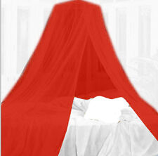 Red Mosquito Net Canopy Dome Insect Protection Single Entry Double King Size Bed