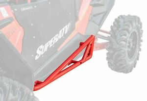 SuperATV Red Rock Slider Nerf Bars for Polaris RZR XP Turbo S 2018+