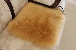 Pure wool mat sofa cushion Sheepskin pet mat Bay window pad luxury car seat mat