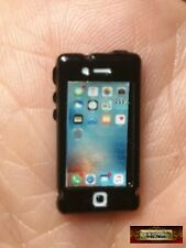 M01017 MOREZMORE Miniature Metal Apple Iphone Dollhouse 1:12 Scale Mini Prop