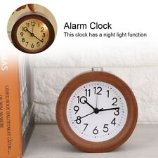 Round Silent Desk Alarm Clock Silent Desk Alarm Clock With Nightlight Brown