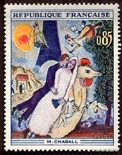 FRANCIA - Yvert 1398 - CUADRO PINTURA CHAGALL -sello nueva
