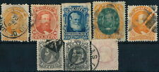 BRAZIL, 8 CLASSIC USED STAMPS WITH DIFF. POSTMARKS, SEE...  #A788