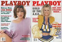 PLAYBOY 1998 Lot of 2-September,Nov-Lisa Rinna, Ahmad Rashad, Mike Tyson Intvw