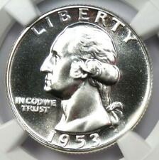 1953 Proof Washington Quarter 25C Coin - Certified NGC PR69 (PF69) - $900 Value!