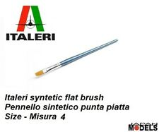Italeri Pennello Paint Brush Sintetico Piatto 4 - Flat Brush Per Modellismo New