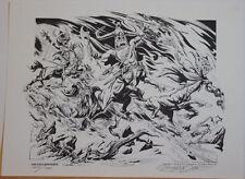 BURNE HOGARTH Print - FOUR HORSEMEN, NM,1978, limited Signed & Numbered, #185