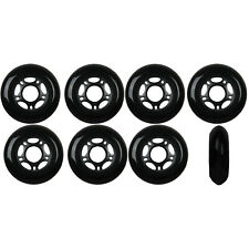 Inline Skate Wheels 80mm 89A Outdoor Black Rollerblade Hockey 8 Pack
