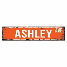 SWNA0063 ASHLEY AVE Street Chic Sign Home Store Shop Wall Decor Birthday Gift