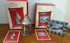 Thomas kinkade (2) ornaments excellent