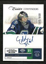 2011-12 Panini CALDER Contenders Rookie Autograph #254 EDDIE LACK  #585/800