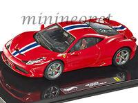 HOT WHEELS ELITE BLY45 FERRARI 458 ITALIA SPECIALE 1/43 DIECAST MODEL CAR RED