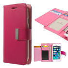 Korean Mercury Rich Diary Wallet Case for iPhone 6 Plus - Hot Pink