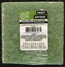 "FLORAL SUPPORT GREEN FOAM ARRANGER BLOCK - (3"" X 4"" X 4"") - FREE SHIPPING!!!"