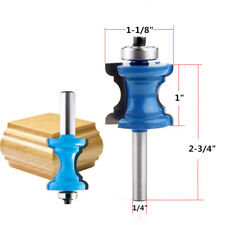 "1-1/8"" Bullnose & Cove Trim Molding Router Bit 1/4"" Shank Woodworking cutter"