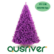 2.1M 7FT Bushy Purple Christmas Xmas Tree Metal Stand 1076 Tips Jupiter PPL210