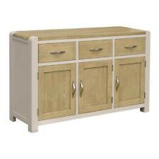 CAPRI PAINTED OAK/ Grey Painted & Smoked Oak Large Sideboard/Free Delivery UK