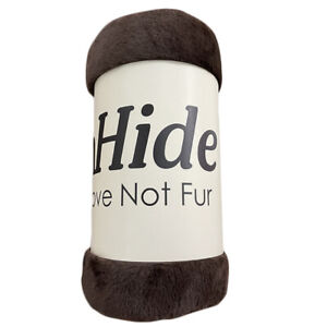 """UnHide For Love Not Fur Lil' Marshmallow Blanket Chocolate Brown 50"""" x 60"""" Marsh"""