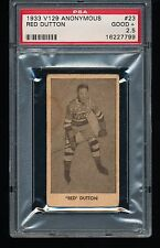 1933 V129 RED DUTTON #23 HOF PSA 2.5