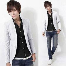 One Button Men's Boy Slim Suit Formal Business Casual Teen Blazers Coat Jacket